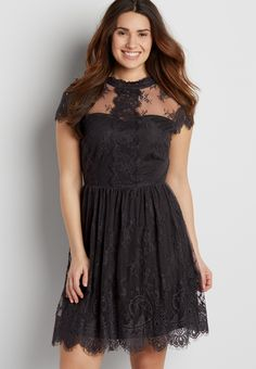 floral lace dress with sweetheart neckline (original price, $44.00) available at #Maurices