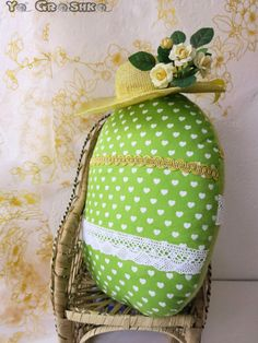 Items similar to Easter Egg Pillow / handmade easter decoration/ easter decorative ornament/ toy pillow /decorative egg/easter/ green/olive on Etsy Easter Pillows, Easter Eggs, Olive Green, Decorative Pillows, Ornaments, Decoration, Toys, Friends, Handmade