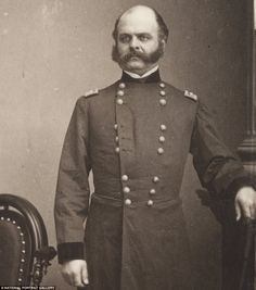 Ambrose Burnside (1824-1881) was an unsuccessful general who later became a Rhode Island politician, but he is best-known for his distinctive facial hair, a style which became known as 'burnsides' in his honour - this was later changed to the modern term 'sideburns'