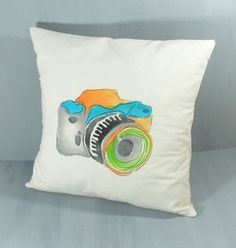 Contemporary Pillows - Camera