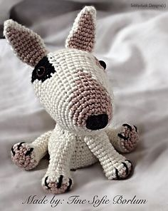 Bull Terrier Crochet Pattern PDF English by SobbyduckDesigns on Etsy