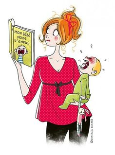 Parenting illustrations by nathalie jomard, so true. only mommies understand :) parenting Illustrations, Illustration Art, Sorry For Everything, Baby Kind, French Artists, Mother And Child, Creative Art, Funny Pictures, Character Design