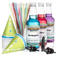 Hawaiian Shaved Ice 3 Flavor Fun Pack of Snow Cone Syrup 3 Pints *** Check out the image by visiting the link-affiliate link.