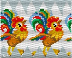 Схемы для обвязанных яиц | biser.info - всё о бисере и бисерном творчестве Rooster Cross Stitch, Chicken Cross Stitch, Cute Cross Stitch, Cross Stitch Embroidery, Beaded Bracelet Patterns, Bead Loom Patterns, Perler Patterns, Beading Patterns, Cross Stitch Patterns