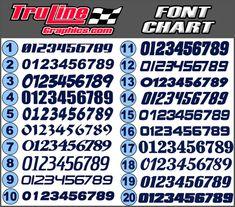 Race Car Number Fonts Free Fonts Fonts Number Fonts