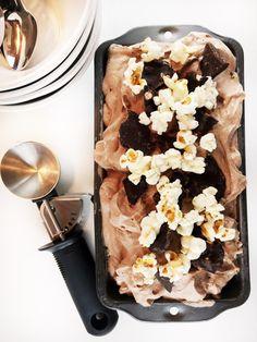chocolate popcorn ice cream