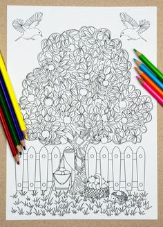 Magical Tree Colouring Page (Downloadable page)