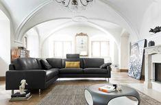 modernes Sofa | Ecksofa | Leder | schwarz - bei Möbel Morschett