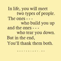 .build up. Tear down
