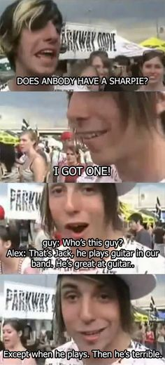 Young Alex Gaskarth and Jack Barakat. This is one of my favorite quotes by them. :)