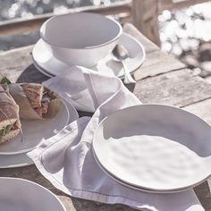 White Melamine Picnic Dinner Plate | Tableware | The White Company UK Picnic Dinner, The White Company, Side Plates, Side Salad, Organic Shapes, Napkins Set, Seville, Furniture Inspiration, Outdoor Dining