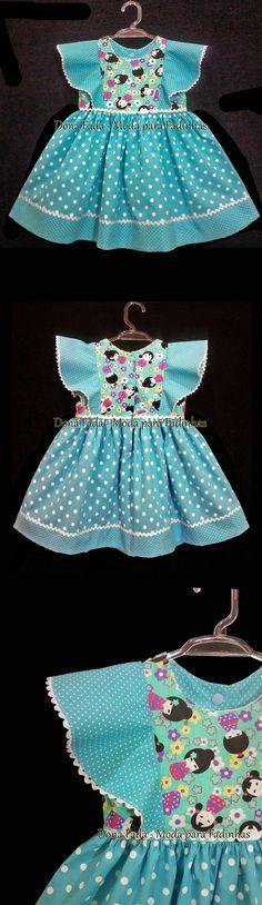 Vestido 18 meses _______________baby - infant - toddler - kids - clothes for girls - - - https://www.facebook.com/dona.fada.moda.para.fadinhas/