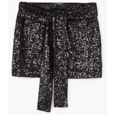 MANGO Sequin skirt ($80) ❤ liked on Polyvore featuring skirts, embellished skirt, mango skirt, sequin skirt, embroidered skirt and bow skirt