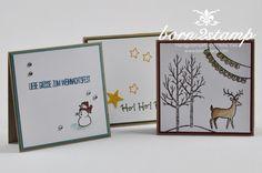 """STAMPIN' UP! Minikärtchen 3x3"""" Weiße Weihnacht, Gesammelte Grüße, Stanzenpaket Itty bitty Akzente #2014HolidayCatalog"""