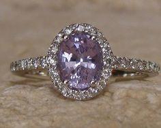 Ceylon Violet Untreted Sapphire in White Gold by GemEngagementRing