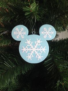 "Frozen Christmas Ornament | Disney Wood Ornament | Disney Christmas Ornament | Disney Frozen Snowflake ""Let It Go"" 