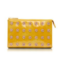 Spiked Flower Tall Cosmetic Case