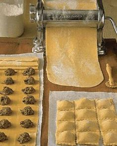 Italian Recipes 83860 Ravioli Dough Recipe: This dough should be quite hard, wet with cold water in small batches at a time. Lower it to 1 mm thick, and . Ravioli Dough Recipe, Pasta Maker, Cheap Christmas, Empanadas, Pizza Recipes, Relleno, Coco, Italian Recipes, Food Porn