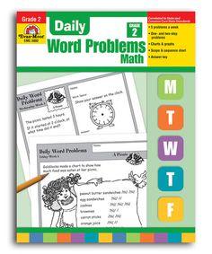 Look at this #zulilyfind! Daily Word Problems Grade 2 Workbook #zulilyfinds