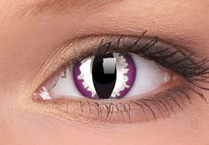 The Purple Dragon Lenses: Breath fire with these purple dragons eye contact lenses. They create a cats eye effect on a white and purple iris, they also make great cats eyes too.