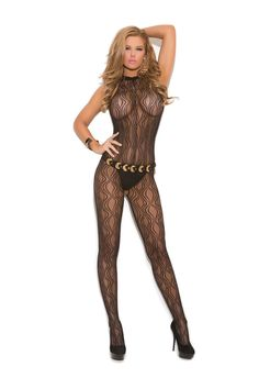 1602 Women's Swirl Lace Halter Bodystocking With Open Crotch_Black_One Size. Swirl Lace Halter Bodystocking With Open Crotch. Rave Wear, Skin Tight, Cheap Clothes, Lace Tops, Elegant, Clubwear, Plus Size Women, Sexy Lingerie, Sexy Women