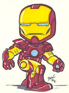 The movie version of Shellhead. Also on eBay this week. 5.5x7in, Prismacolors and ink on Bristol. TM & (C) Marvel.
