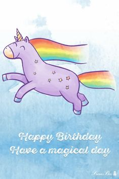 Happy Birthday! Have a magical day. Free Happy Birthday Song, Special Birthday Wishes, Happy Birthday Husband, Birthday Wishes Cake, Happy Birthday Flower, Happy Birthday Girls, Happy Birthday Pictures, Birthday Songs, Birthday Cards For Friends
