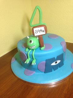 Monsters inc cake by Angell Cakes