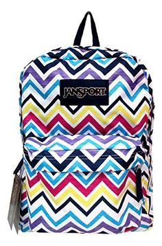 Jansport Superbreak Backpack Multi Saucy Chevron ** More info could be found at the image url.(This is an Amazon affiliate link and I receive a commission for the sales)