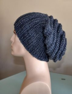 Items similar to Knit man hat Men Slouch Beanie Slouchy Hat Winter Adult Teen Charcoal Mist Dark Grey Fathers Day Gift on Etsy Mens Crochet Beanie, Slouch Beanie, Slouchy Hat, Hat Men, Hats For Men, Fathers Day Gifts, Teen, Beanies, Knitting