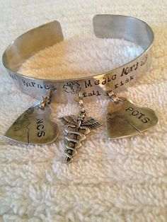 Bronze Medical Alert Awareness Bracelet Cuff with two by shaeleigh, $45.00 A pretty medical alert bracelet!