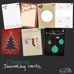 Holiday journal cards