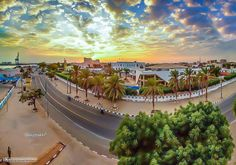 Sunset over Port Sudan, Red Sea state - (Africa)  غروب فوق بورتسودان، -   ولاية البحر الأحم#السودان