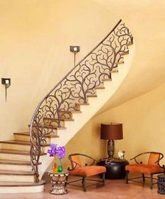 Exquisite wrought iron banister ideas decorative banisters modern interior staircase ideas