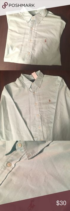 Ralph Lauren button down A stylish sky blue Ralph Lauren jean shirt with a colored embroidered horse.   Super comfortable super soft.  Only worn once.  No stains no damages no holes.   Willing to negotiate offer Ralph Lauren Shirts Casual Button Down Shirts