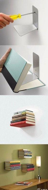 DIY shelves.. I'm going to do this in my little girls room.. she has tons of books.. this would be a PERFECT IDEA.
