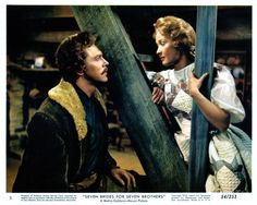 Seven Brides for Seven Brothers - Howard Keel & Jane Powell 1954 Favorite movie ever! Howard Keel, Golden Age Of Hollywood, Classic Hollywood, Old Hollywood, Hollywood Icons, Jane Powell, Old Movies, Great Movies, Movies Worth Watching