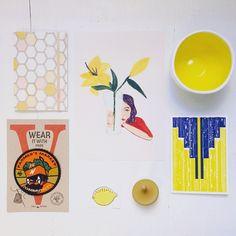 Nos gusta el amarillo. #tattly #ceramica #postales #letterpress #cuadernos #ilustracion @uinverso @hammerpress @tattly @madrigueraworkshop @witandwhistle #magnesiabcn #Barcelona #travel #regalos