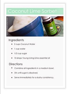 Lime ice cream #youngliving #essentialoils #summertime