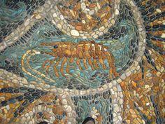 Shrimp Pebble Mosaic