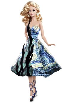 Barbie® Doll Inspired by Vincent van Gogh. Pink label. RD:6/16/2011.  PC:VO445.
