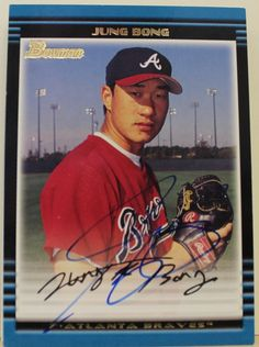 Jung Bong Atlanta Braves Autographed 2002 Bowman Card