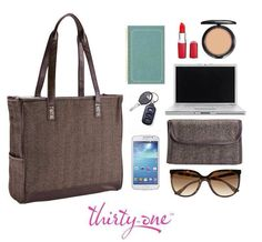 Polished & professional, our Cindy Tote holds it all together.  www.mythirtyone.com/myshop