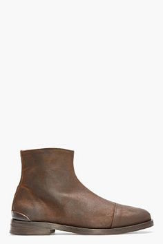 Rag & Bone Brown Brushed Suede Archer Boots