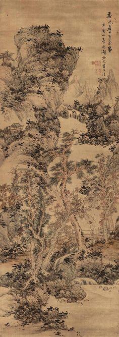 Autumn Mountains after Wang Meng - Lan Ying