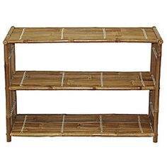 @Overstock - Add a touch of the exotic to your home decor with this media shelf  Unique living room furniture is elegant and simple  Handcrafted bamboo table with shelf can be used as a medium size TV standhttp://www.overstock.com/Worldstock-Fair-Trade/Bamboo-Media-Shelf-Vietnam/3461139/product.html?CID=214117 $59.99