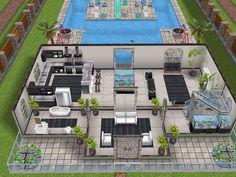 Gde maison avec piscine en Y / vue RDC