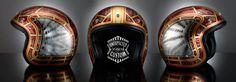 Airbrushed Custom Helmet Snake