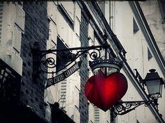 Crowned Heart, Montmartre Street, Paris, France