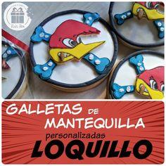 Galletas personalizadas con el logo de #Loquillo para celebrar el cumpleaños de un fan. Kuki Box. Tartas y Galletas en Valencia www.kukibox.com